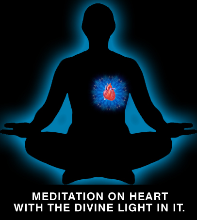 Image result for what is raja yoga meditation from the heart